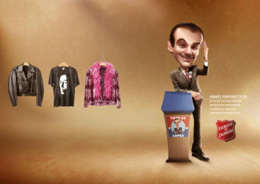 Salvation Army: Hanger- Politician Print Ad by WMcCann Sao Paulo