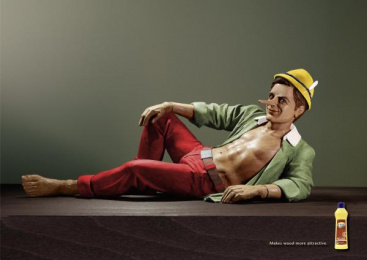 Wood Care: SEXY PINOCCHIO Print Ad by Grey Dusseldorf