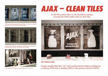 Ajax: Ajax - Clean Tiles [image] Ambient Advert by ANR BBDO Stockholm