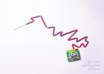 Fruit By The Foot: TATTOO Print Ad by Saatchi & Saatchi New York