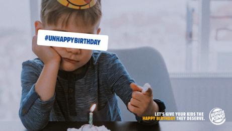 Burger King: Unhappy Birthday, 1 Print Ad by DAVID Madrid