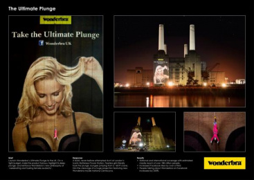 Wonderbra: Take the Ultimate Plunge Outdoor Advert by Direct, Iris London