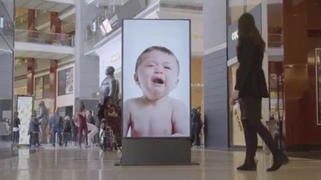 Johnson's Baby: Crying Baby Ambient Advert by BBDO New York