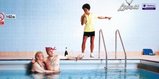 Galaxy Radio: Galaxy Radio Pool Print Ad by BJL Manchester