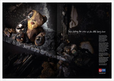 Nz Fire Service: Made From Remains, 3 Print Ad by FCB Auckland