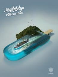 Lazzmaster: Trip to Antalya Print Ad by Havas Azerbaijan