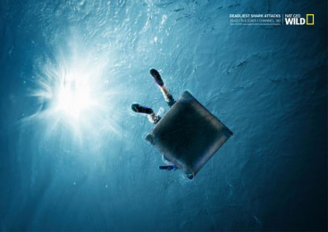 National Geographic Tv Channel: Deadliest shark attacks, 3 Print Ad by Ireland/Davenport