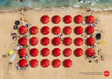 AirAsia: Beach Print Ad by BBDO Bangkok