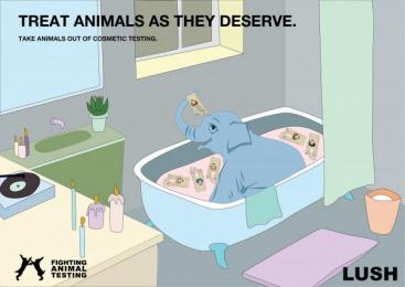 Lush: Elephant Print Ad by Miami Ad School Hamburg