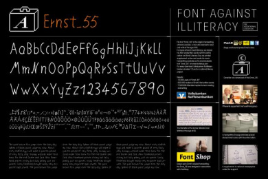 VOLKSBANKEN RAIFFEISENBANKEN: FONTS AGAINST ILLITERACY Design & Branding by Heimat Berlin, Trigger Happy Productions
