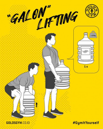 "Gold's Gym: Gym It Yourself - ""Galon"" Lifting Digital Advert by LUP, Jakarta"