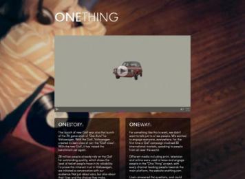 Volkswagen: One Thing Case study by Grabarz & Partner Hamburg, Tribal London