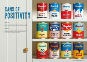 Campbell's Soup: CANS OF POSITIVITY Print Ad by Publicis Malaysia Petaling Jaya, Y&R Kuala Lumpur, Motion Rom