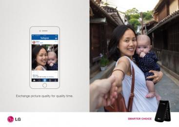 LG: Flip Phone, 1 Print Ad by Miami Ad School New York