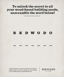 Humboldt Redwood: The Obvious Choice, 2 Print Ad by barrettSF
