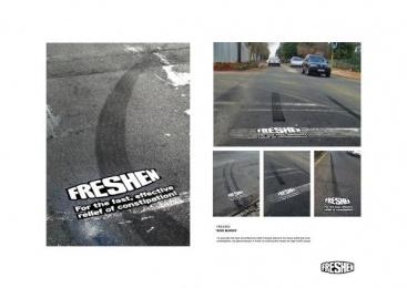 Skid marks Ambient Advert by DraftFCB Johannesburg