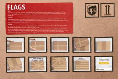 UPS: FLAGS Direct marketing by Ogilvy & Mather New York