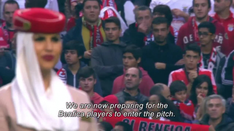 Emirates Airlines: Sl Benfica Safety Demonstration [video] Case study by O Escritorio