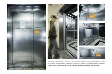 Brastemp: STAINLESS Ambient Advert by DDB Sao Paulo