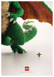 LEGO: For every imagination: Dragon Print Ad by Ogilvy & Mather Bangkok