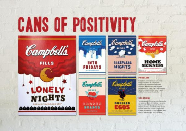 Campbell's: Cans of Positivity Print Ad by Y&R Kuala Lumpur