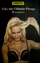 Wonderbra: Take the Ultimate Plunge Outdoor Advert by Direct