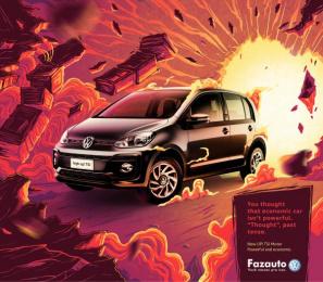 Fazauto: New UP! Powerful and economic, 1 Print Ad by G Marketing Comunicação