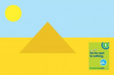 Transavia.com: Go for next to nothing, Pyramid Print Ad by H.
