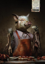 People For The Ethical Treatment Of Animals (PETA): Pigman Print Ad by Archer Troy Mexico