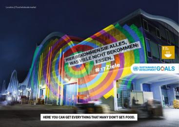 17Ziele: 17 Live Projections, 17 Print Ad by HUisHU. Digitale Kreativagentur, Hamburg & Hannover, Germany