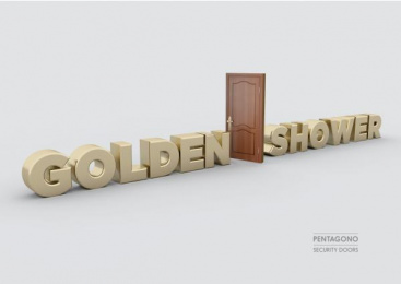 Pentagono Security Doors: Golden Shower Print Ad by Dhélet Y&R