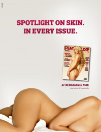 Penthouse Magazine: Spotlight on skin Print Ad by Red Cell