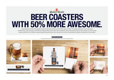 James Ready Beer: James Ready 50% Awesomer Coasters, 1 Direct marketing by Leo Burnett Toronto
