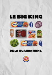 Burger King: Le Whopper de la Quarantaine, 2 Outdoor Advert by Buzzman Paris