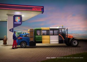 Tiriac Energy: The Car-truck-van-bus-tractor Print Ad by Rusu+bortun Brand Growers