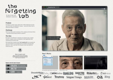 Coc Coc Vietnam: The Forgetting Tab – Reminding people to help those who forget [image] Digital Advert by Isobar Vietnam