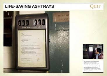 Quit: PROPOSAL Ambient Advert by Saatchi & Saatchi London