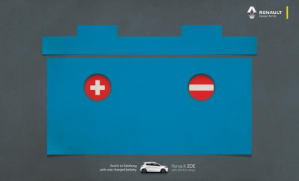 Renault: Flags - Zurich to Salzburg Print Ad by Publicis İstanbul