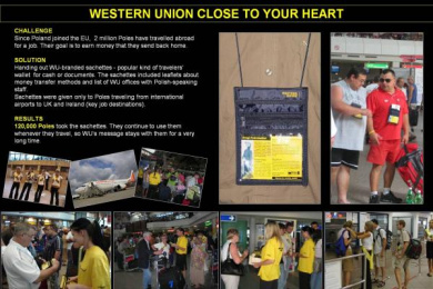 Western Union: CLOSE TO YOUR HEART Print Ad by Starcom Warsaw