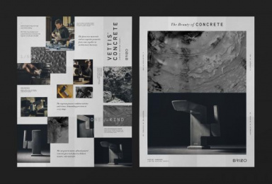 Brizo: The Beauty of Concrete, 7 Print Ad by Young & Laramore