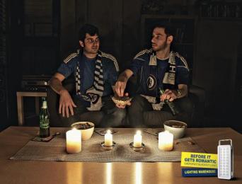 Lighting Warehouse: Sports Fans Print Ad by Acw Grey Tel-Aviv