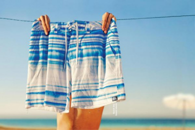 Quiksilver Clothing: INSTANT DRY BOARDSHORT Print Ad by Brand Experience Designers