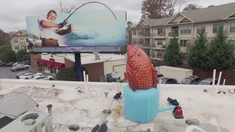 The Big Ketch: Roof top fish Outdoor Advert by Outfront Studios