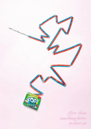 Fruit By The Foot Snack: MAN/WOMAN Outdoor Advert by Saatchi & Saatchi New York