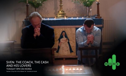 Sven: The Coach, The Cash And His Lovers Tv Programme: CHURCH Print Ad by 4creative
