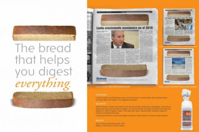ACTI-BALANCE BREAD: HELPS DIGEST EVERYTHING Promo / PR Ad by J. Walter Thompson San Juan