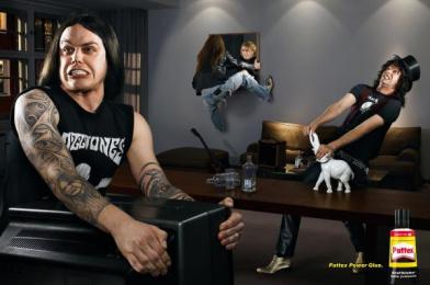 Pattex Glue: ROCKSTARS Print Ad by DDB Berlin