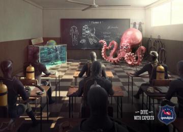 Spondylus: Octopus Print Ad by Chamán Lima