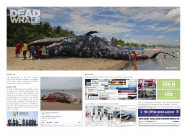 Greenpeace: Dead Whale [image] Ambient Advert by DM9 JaymeSyfu Makati