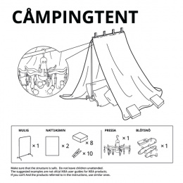 IKEA: Forts at Home - Campingtent Digital Advert by Instinct Moscow